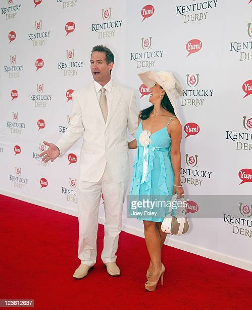 Actor Matt Battaglia and wife Tina Frazier Battaglia attend the 137th Kentucky Derby at Churchill Downs on May 7 2011 in Louisville Kentucky