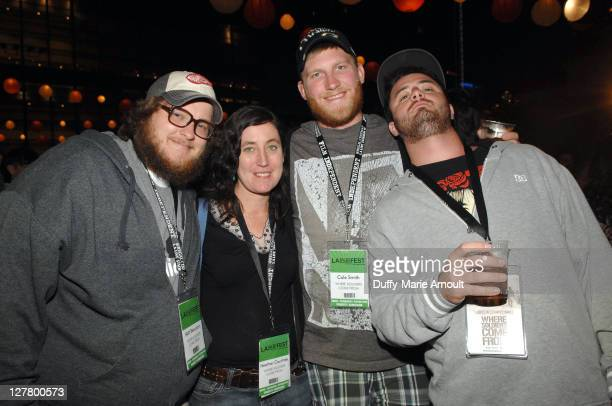 Actor Matt Beaudoin producer/director Heather Courtney and actors Cole Smith and Dominic Fredianelli attend the Latin Filmmaker Party during the 2011...