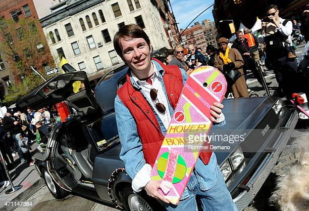 Actor Matt Bell as Marty McFly at the Family Festival Street Fair during the 2015 Tribeca Film Festival at on April 25 2015 in New York City