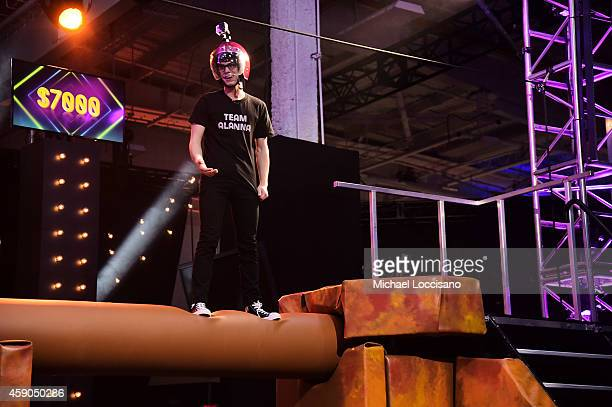 Actor Matt Bennett competes in the HALO Challenge at the Sixth Annual Nickelodeon HALO Awards in New York City The hourlong concert special will...