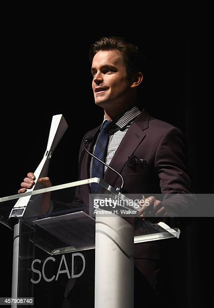Actor Matt Bomer accepts his Spotlight Award at his Spotlight Award Tribute at Trustees Theater on Day Two of the 17th Annual Savannah Film Festival...