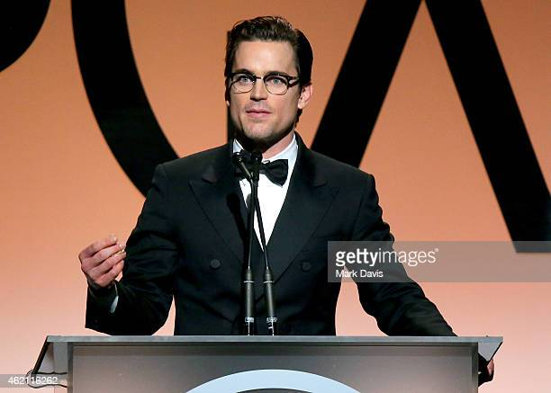 Actor Matt Bomer accepts the Stanley Kramer Award for 'The Normal Heart' onstage during the 26th Annual Producers Guild Of America Awards at the...