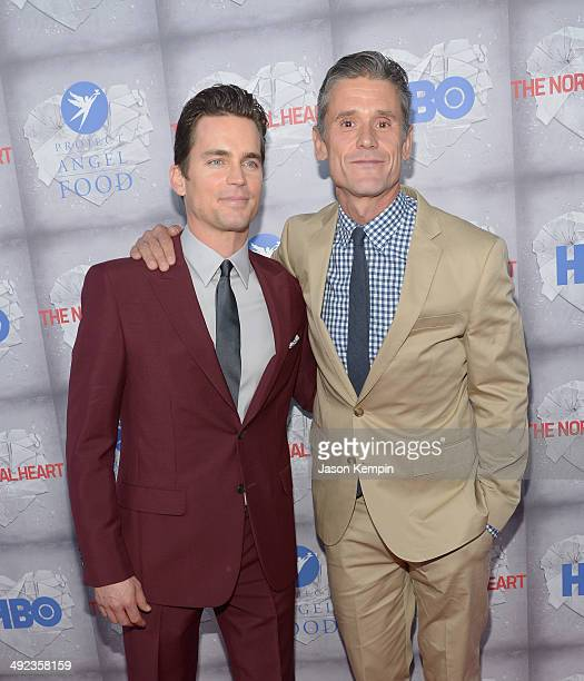 Actor Matt Bomer and husband Simon Halls attend HBO's The Normal Heart Premiere at The Writers Guild Theatre on May 19 2014 in Beverly Hills...