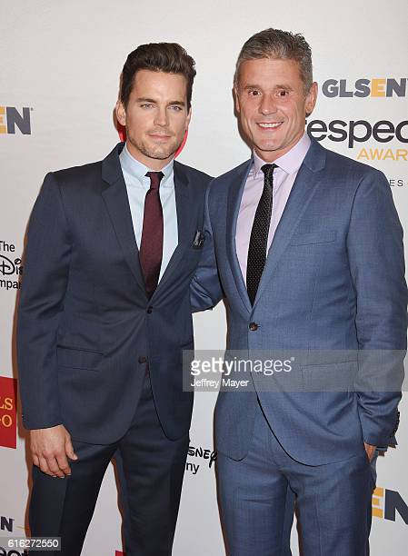Actor Matt Bomer and husband Simon Halls attend the 2016 GLSEN Respect Awards at the Beverly Wilshire Hotel on October 21 2016 in Beverly Hills...