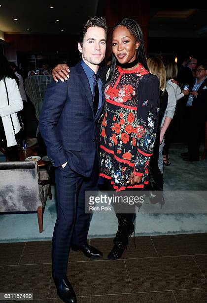 Actor Matt Bomer and model Naomi Campbell attend Life is Good at GOLD MEETS GOLDEN Event at Equinox on January 7 2017 in Los Angeles California