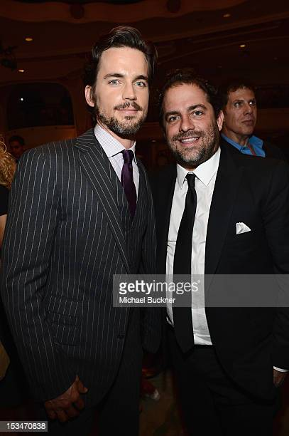 Actor Matt Bomer and producer Brett Ratner attend the 8th Annual GLSEN Respect Awards held at Beverly Hills Hotel on October 5 2012 in Beverly Hills...