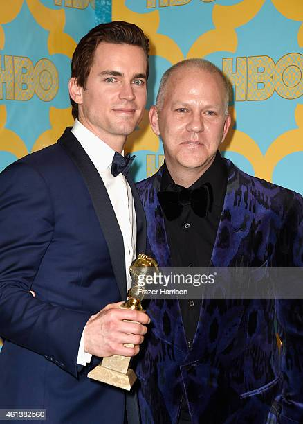 Actor Matt Bomer and producer Ryan Murphy attend HBO's Post 2015 Golden Globe Awards Party at Circa 55 Restaurant on January 11 2015 in Los Angeles...