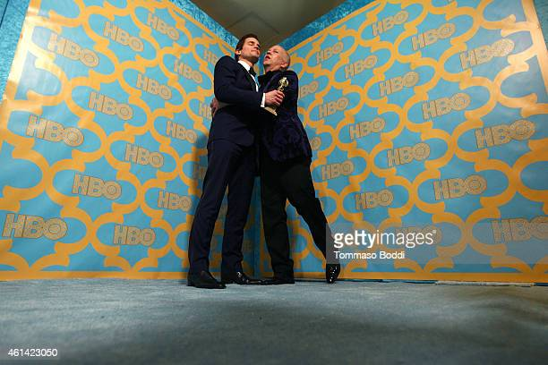 Actor Matt Bomer and producer Ryan Murphy attend the HBO'S Post Golden Globe Party held at The Beverly Hilton Hotel on January 11 2015 in Beverly...