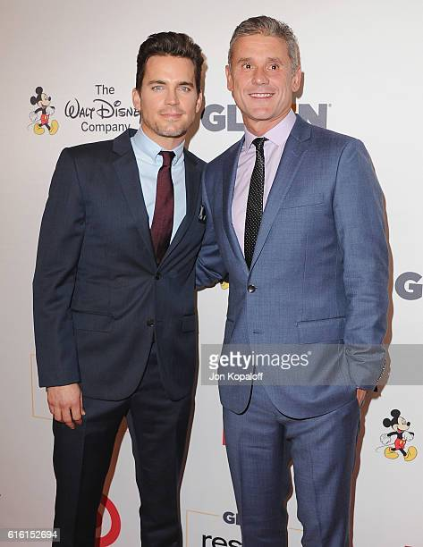 Actor Matt Bomer and publicist Simon Halls arrive at the 2016 GLSEN Respect Awards at the Beverly Wilshire Four Seasons Hotel on October 21 2016 in...