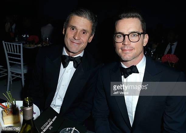 Actor Matt Bomer and Simon Halls attend amfAR's Inspiration Gala Los Angeles at Milk Studios on October 29 2015 in Hollywood California