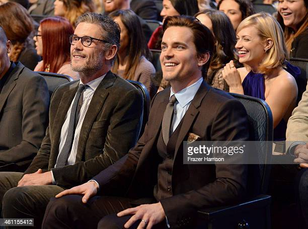 Actor Matt Bomer and Simon Halls attend The 41st Annual People's Choice Awards at Nokia Theatre LA Live on January 7 2015 in Los Angeles California