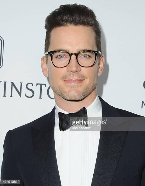 Actor Matt Bomer arrives at amfAR's Inspiration Gala Los Angeles at Milk Studios on October 29 2015 in Hollywood California