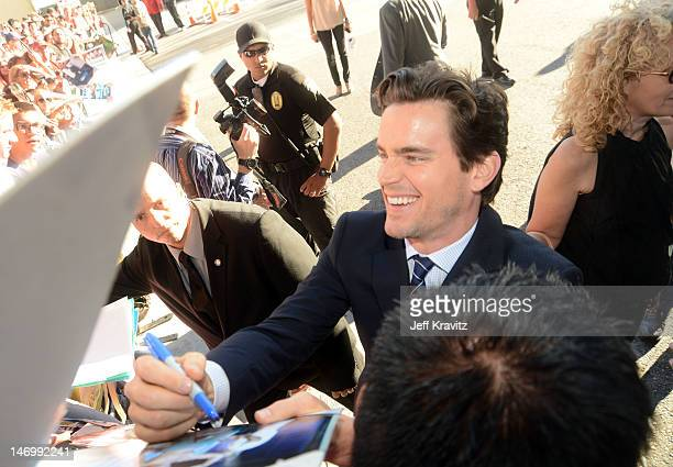 Actor Matt Bomer arrives at the closing night gala premiere of 'Magic Mike' at the 2012 Los Angeles Film Festiva held at Regal Cinemas LA Live on...