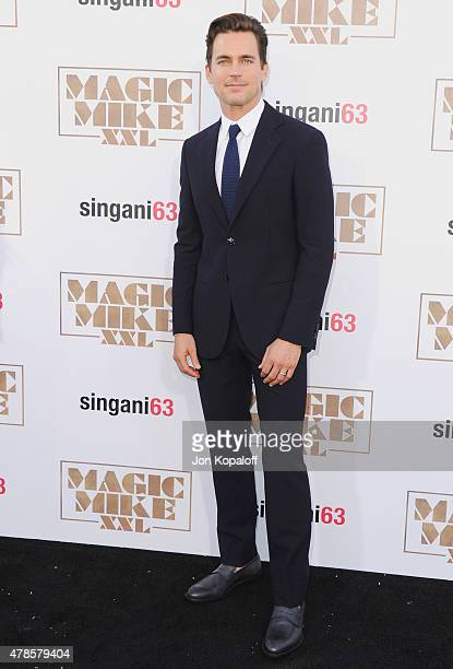 Actor Matt Bomer arrives at the Los Angeles Premiere 'Magic Mike XXL' at TCL Chinese Theatre IMAX on June 25 2015 in Hollywood California