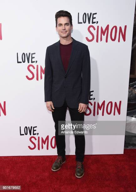 Actor Matt Bomer arrives at the 'Love Simon' special screening and performance at Westfield Century City on March 13 2018 in Century City California