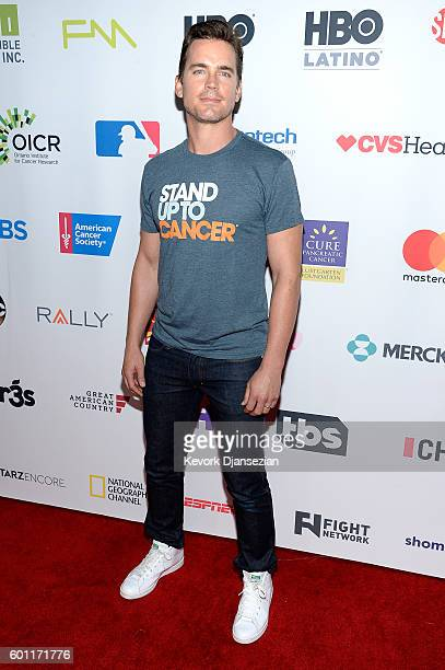 Actor Matt Bomer attends Hollywood Unites for the 5th Biennial Stand Up To Cancer A Program of The Entertainment Industry Foundation at Walt Disney...