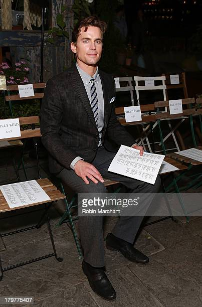 Actor Matt Bomer attends the Billy Reid show during Spring 2014 MercedesBenz Fashion Week at The McKittrick Hotel on September 6 2013 in New York City