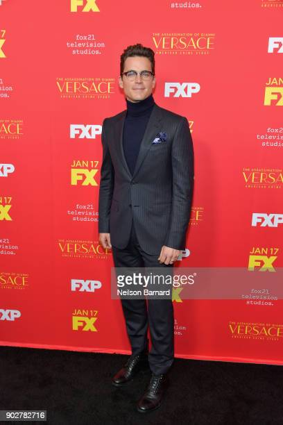 Actor Matt Bomer attends the premiere of FX's 'The Assassination Of Gianni Versace American Crime Story' at ArcLight Hollywood on January 8 2018 in...