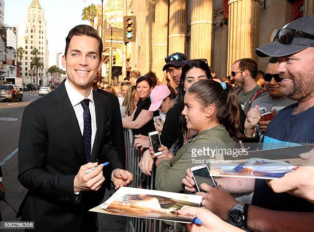 Actor Matt Bomer attends the premiere of Warner Bros Pictures' 'The Nice Guys' at TCL Chinese Theatre on May 10 2016 in Hollywood California