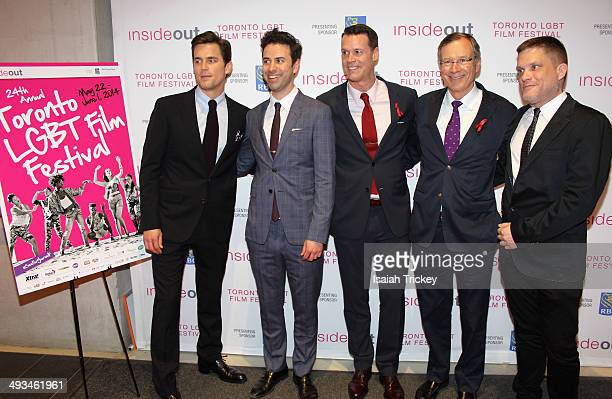 Actor Matt Bomer, Director of Programming for Inside Out Film Festival Andrew Murphy, Olympic Swimmer Mark Tewksbury, President and CEO of CANFAR...