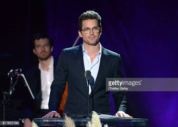 Actor Matt Bomer speaks onstage during the MPTF 95th anniversary celebration with 'Hollywood's Night Under The Stars' at MPTF Wasserman Campus on...