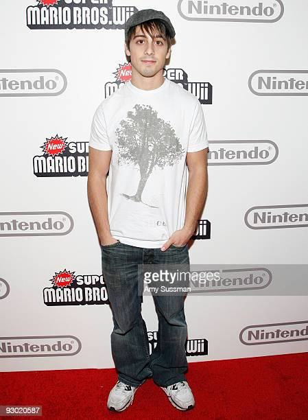 Actor Matt Bush attends the 25 years of Mario celebration at the Nintendo World Store on November 12 2009 in New York City
