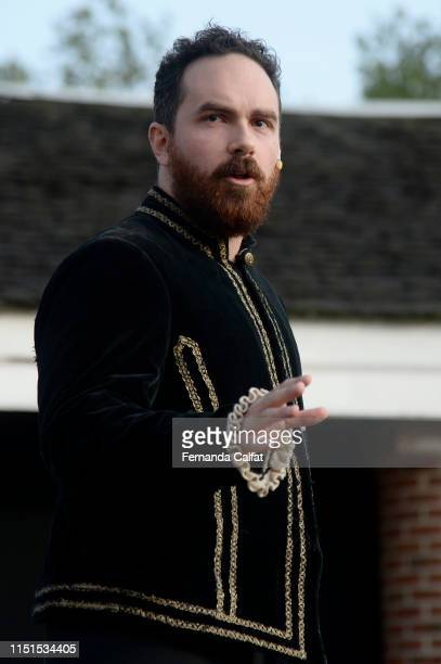 Actor Matt Carr Jr onstage at Shakespeare Downtown Presents Hamlet at Castle Clinton National Monument Battery Park on June 22 2019 in New York City