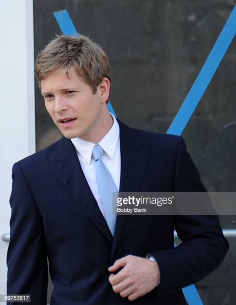 Actor Matt Czuchry is seen on location for 'The Good Wife' August 11 2009 in the Long Island City neighborhood of the Queens borough of New York City