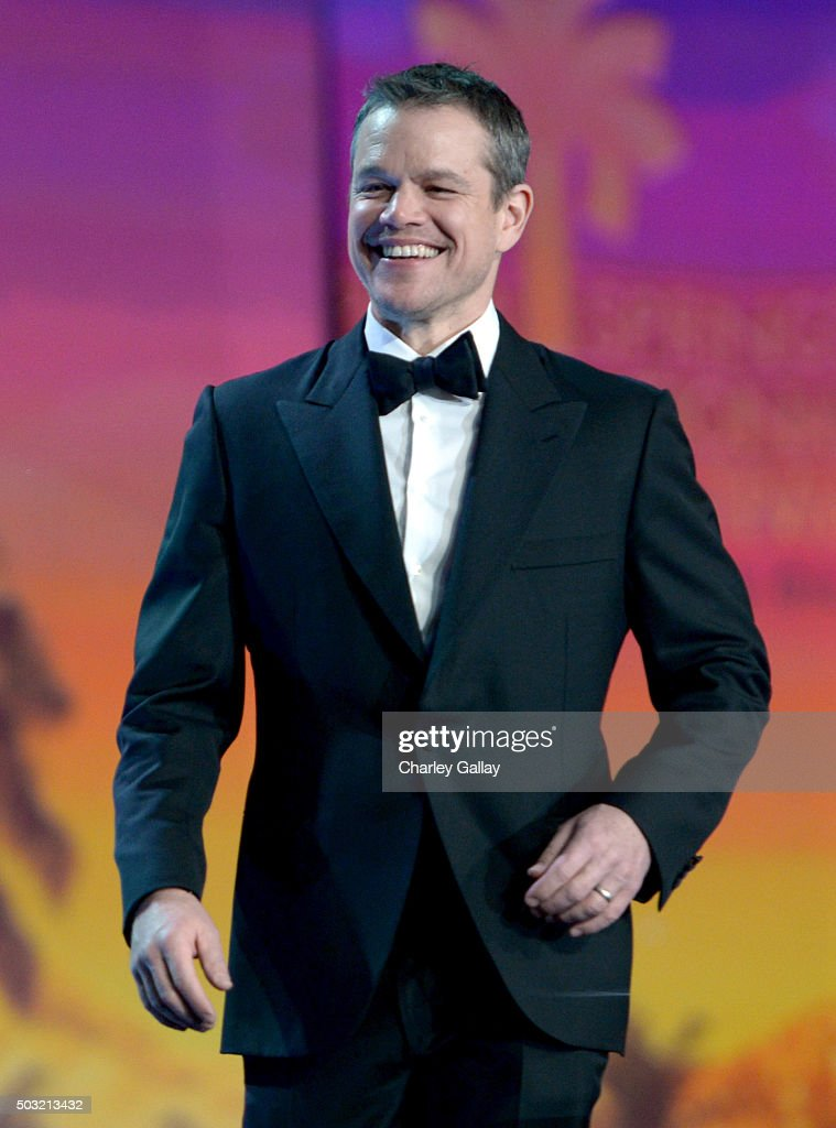 Actor Matt Damon accepts the Chairman's Award onstage at the 27th Annual Palm Springs International Film Festival Awards Gala at Palm Springs Convention Center on January 2, 2016 in Palm Springs, California.