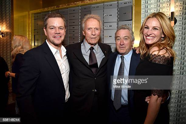 Actor Matt Damon actor/director Clint Eastwood actors Robert De Niro and Julia Roberts attend Spike TV's 10th Annual Guys Choice Awards at Sony...