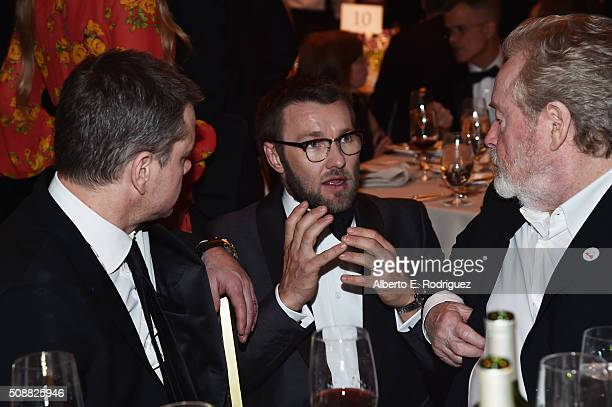 Actor Matt Damon actor/director Joel Edgerton and director Ridley Scott attend the 68th Annual Directors Guild Of America Awards at the Hyatt Regency...