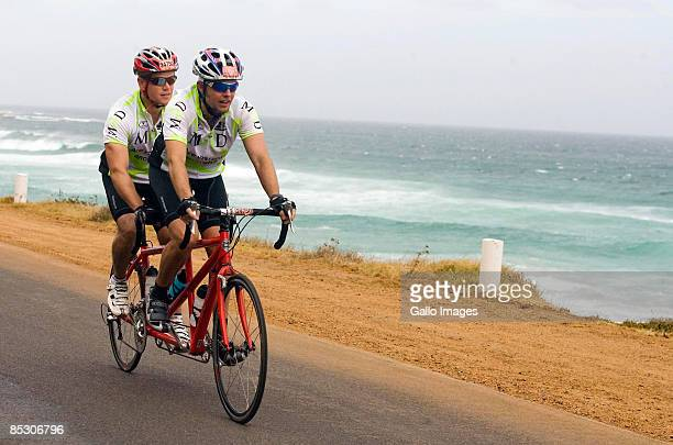 Actor Matt Damon and his brother Kyle Damon take part in the 2009 Cape Argus Cycling Tour on March 8 2009 in Cape Town South Africa Matt Damon rode...