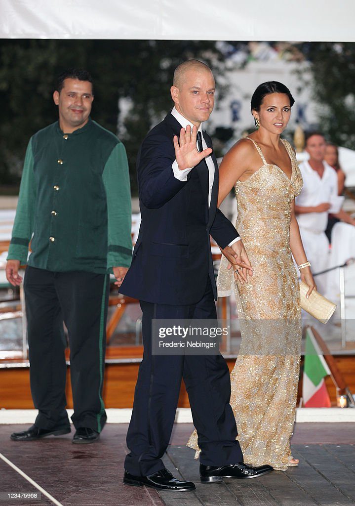 Actor Matt Damon and Luciana Damon and attends the 'Contagion' premiere during the 68th Venice Film Festival at Palazzo del Cinema on September 3, 2011 in Venice, Italy.