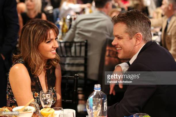 Actor Matt Damon and Luciana Damon are seen during the 2017 Film Independent Spirit Awards at the Santa Monica Pier on February 25, 2017 in Santa...