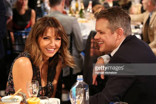 Actor Matt Damon and Luciana Damon are seen during the 2017 Film Independent Spirit Awards at the Santa Monica Pier on February 25 2017 in Santa...