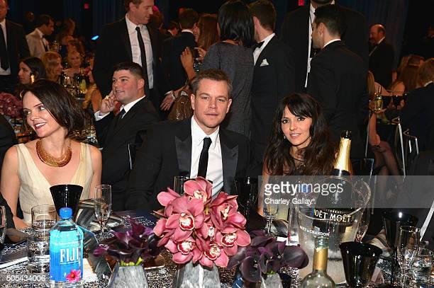 Actor Matt Damon and Luciana Damon at the 21st Annual Critics' Choice Awards presented by FIJI Water at Barker Hangar on January 17, 2016 in Santa...