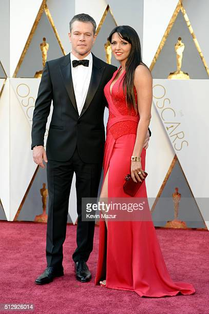 Actor Matt Damon and Luciana Damon attend the 88th Annual Academy Awards at Hollywood & Highland Center on February 28, 2016 in Hollywood, California.