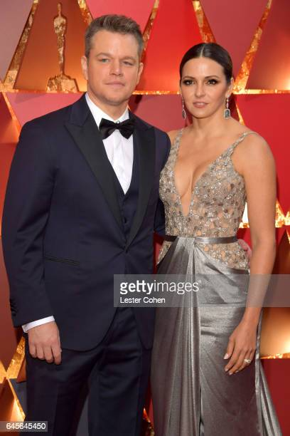 Actor Matt Damon and Luciana Damon attend the 89th Annual Academy Awards at Hollywood & Highland Center on February 26, 2017 in Hollywood, California.