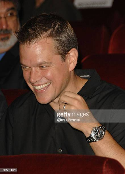 Actor Matt Damon at the premiere of The Assassination of Jesse James by the Coward Robert Ford at the Elgin Theatre at The 32nd Annual Toronto...
