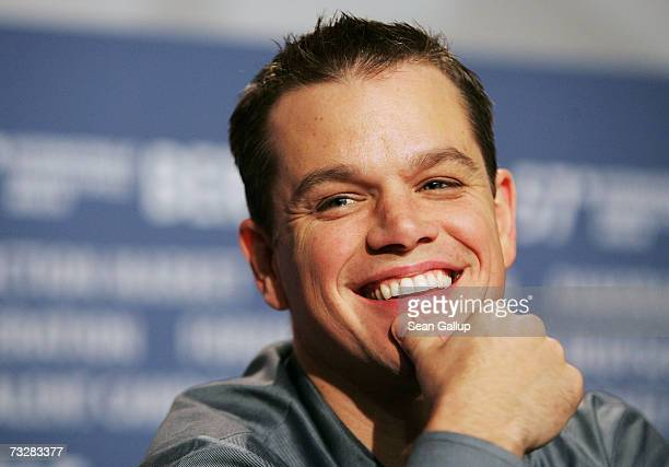 Actor Matt Damon attends a press conference to promote the movie 'The Good Shepherd' during the 57th Berlin International Film Festival on February...
