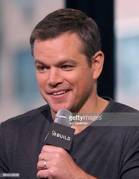 Actor Matt Damon attends AOL Build Presents Matt Damon 'Jason Bourne' at AOL HQ on July 28 2016 in New York City