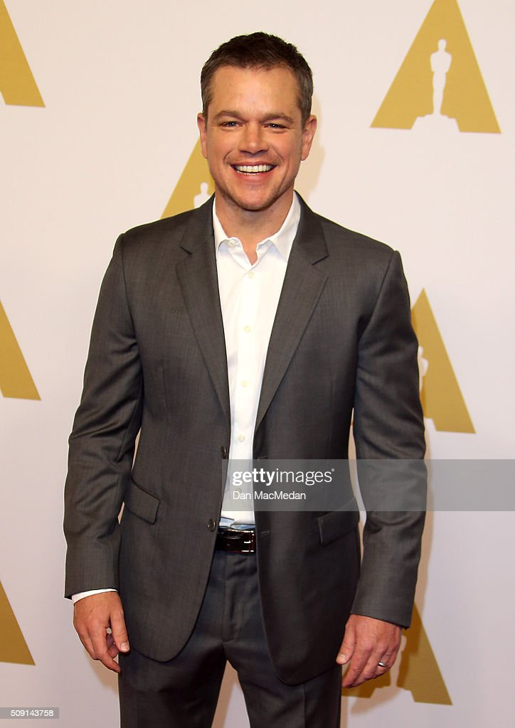 Actor Matt Damon attends the 88th Annual Academy Awards Nominee Luncheon in Beverly Hills, California.