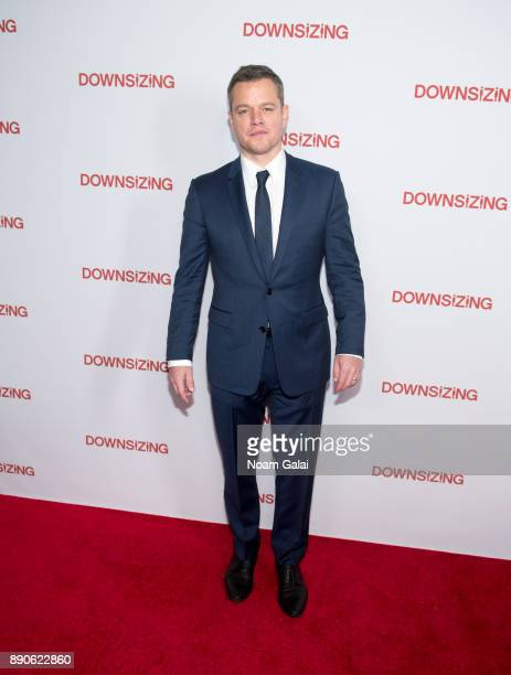 Actor Matt Damon attends the 'Downsizing' New York screening at AMC Lincoln Square Theater on December 11 2017 in New York City