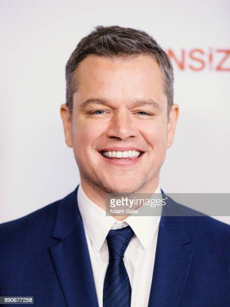 "Actor Matt Damon attends the ""Downsizing"" New York screening at AMC Lincoln Square Theater on December 11, 2017 in New York City."