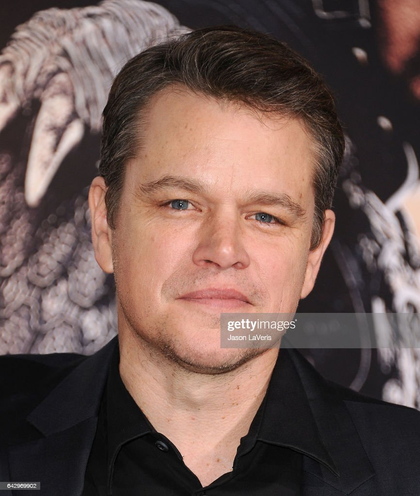 Actor Matt Damon attends the premiere of 'The Great Wall' at TCL Chinese Theatre IMAX on February 15, 2017 in Hollywood, California.