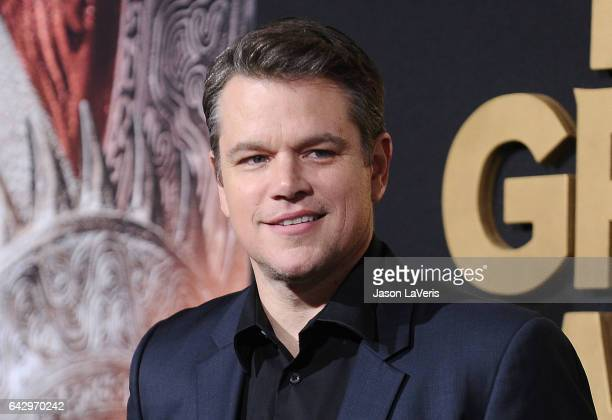 Actor Matt Damon attends the premiere of 'The Great Wall' at TCL Chinese Theatre IMAX on February 15 2017 in Hollywood California