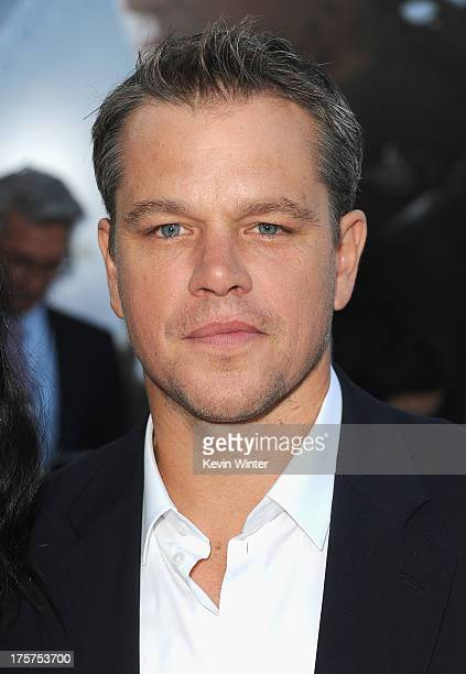 Actor Matt Damon attends the premiere of TriStar Pictures' Elysium at Regency Village Theatre on August 7 2013 in Westwood California