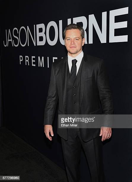 Actor Matt Damon attends the premiere of Universal Pictures' 'Jason Bourne' at The Colosseum at Caesars Palace on July 18 2016 in Las Vegas Nevada