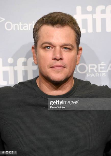 Actor Matt Damon attends the 'Suburbicon' press conference during the 2017 Toronto International Film Festival at TIFF Bell Lightbox on September 10...