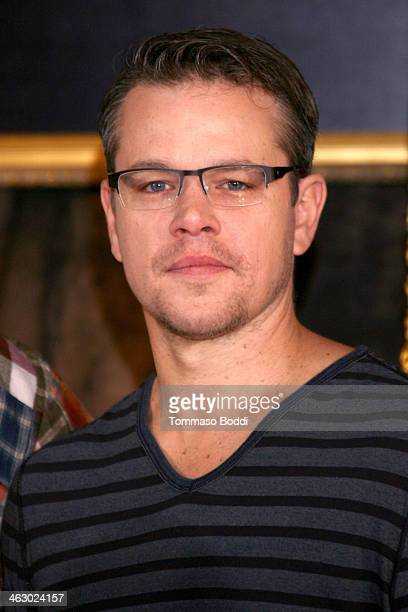 """Actor Matt Damon attends the """"The Monuments Men"""" Los Angeles photo call held at the Four Seasons Hotel Los Angeles at Beverly Hills on January 16,..."""